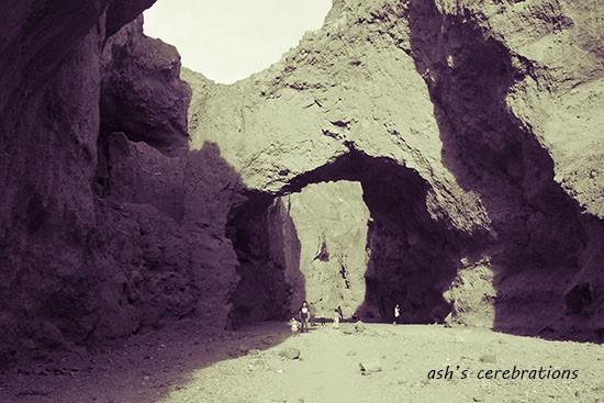 Natural bridge @ Death Valley