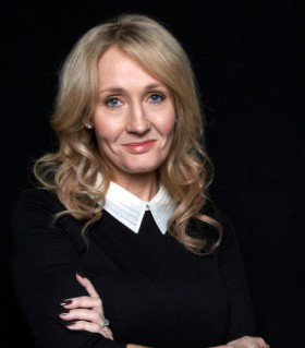 """FILE - This Oct. 16, 2012 file photo shows author J.K. Rowling at an appearance to promote her latest book """"The Casual Vacancy,"""" at The David H. Koch Theater in New York. (Photo by Dan Hallman/Invision/AP, File)"""